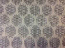 Jane Churchill Ikat Dot Circle Upholstery Fabric- Patino/Silver 1.35 yd J773F-05