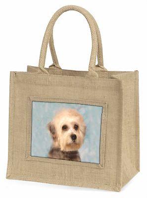 Dandie Dinmont Hund große natürliche jute-einkaufstasche Weihnachtsgeschenk IDE,