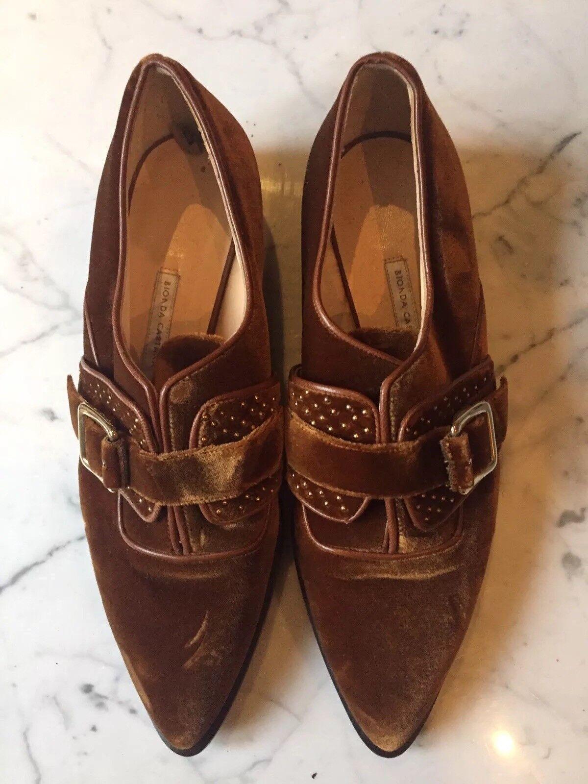 Bionda Castana marrón marrón marrón de terciopelo monjes Correa Zapatos Planos Mocasines nuevo UK6 EU39  te hará satisfecho