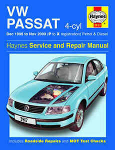 volkswagen passat repair manual haynes workshop service manual 1996 rh ebay ie 2000 vw passat service manual pdf 2000 passat owners manual