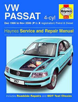 VOLKSWAGEN Passat Riparazione Manuale Haynes WORKSHOP MANUALE DI SERVIZIO 1996-2000 3917