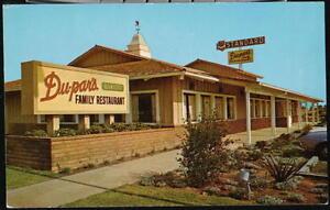 TUSTIN-CA-Du-par-039-s-Family-Restaurant-amp-Bakery-Newport-Freeway-Vtg-Postcard-Old