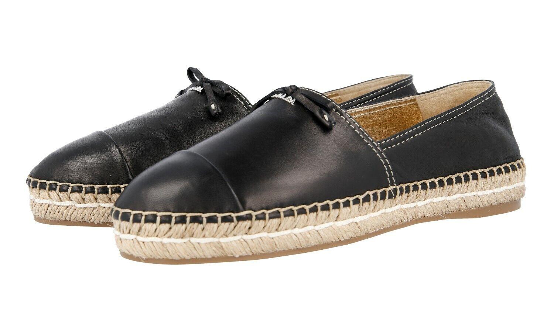 Auténticos zapatos Prada alpargatas de lujo 1S740F 1S740F 1S740F Negro Nuevo 36 36,5 Reino Unido 3  más orden