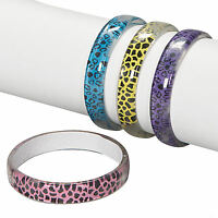 12 Animal Print Bangle Bracelets Girl's Party Favors