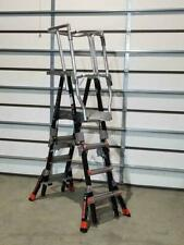 New Little Giant 19504 Compact Safety Cage Ladder 4 Ft To 6 Ft Platform Height