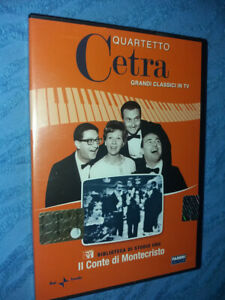 DVD-nuovo-grandi-classici-tv-QUARTETTO-CETRA-IL-CONTE-DI-MONTECRISTO-da-STUDIO-1