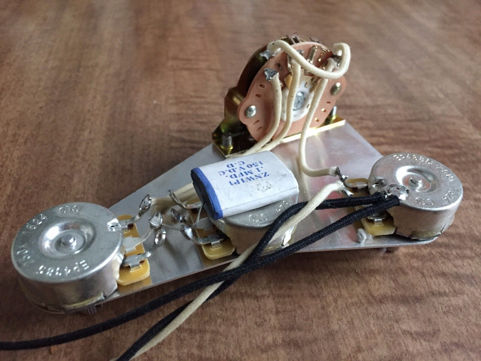 1959 Fender Stratocaster Wiring Harness 3 Way CTS .1mfd Wax  cklet Phonebook