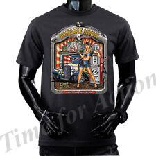 BULLET PROOF HOT ROD GARAGE LONG SLEEVE Shirt M-3XL ~ Skull /& Pinstripes COOL