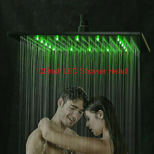12-inch-LED-Shower-Head-Ceiling-Wall-Mount-Oil-Rubbed-Bronze-Rain-Square-Sprayer