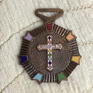 Vintage-Masonic-Grand-Cross-of-Color-Rainbow-Order-Girls-Merit-Badge-Award-Medal