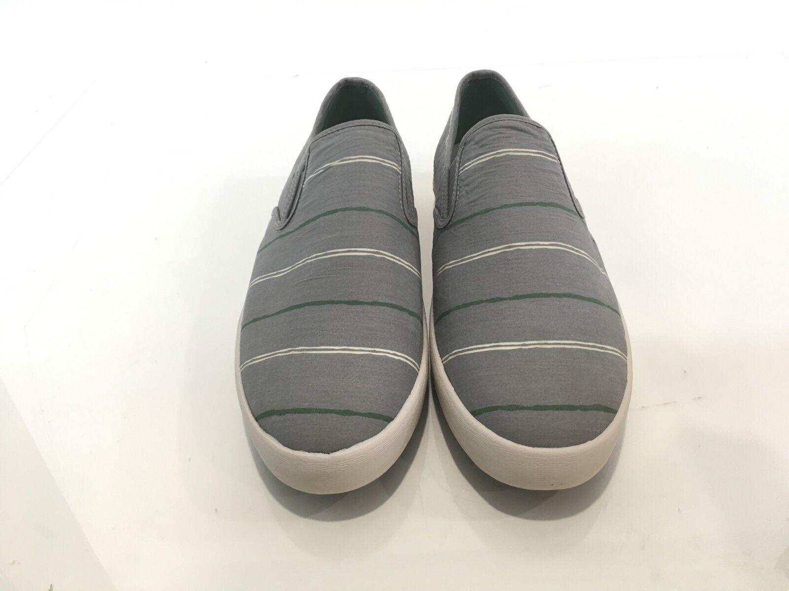 Seavees Baja SLip On Break Line Granite Grey Poplin Mens Size 11.5
