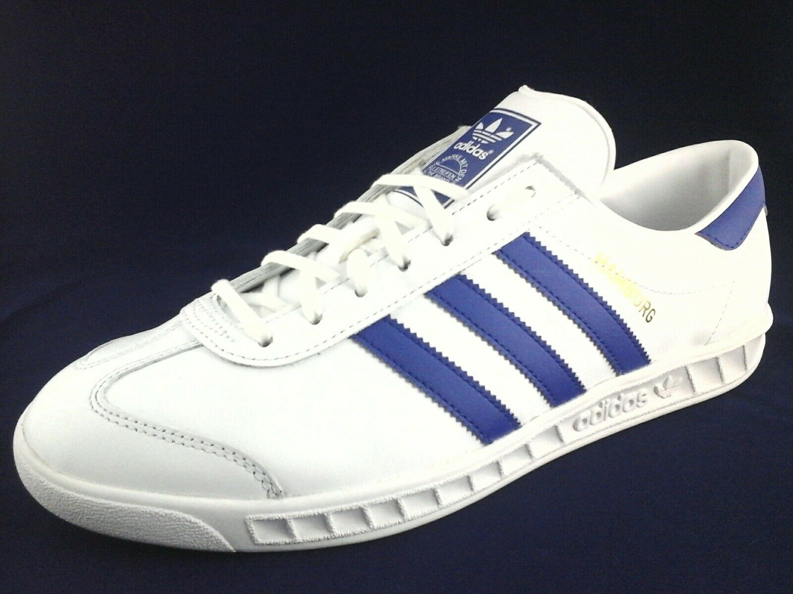 Adidas Originals Hamburg Ortholite Mens Shoes White Blue BY9758 10, 10.5 New