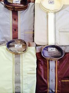 Nice 2 piezas 2 Tonos enique rabe Top Largo Vestido El Islam Thobe Pantalones jubba supplier
