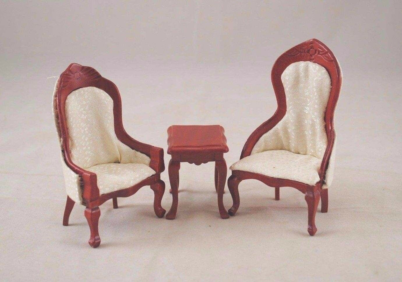 Victorian Living Room Parlor Set walnut dollhouse   1//12 scale T0129  wood 5pcs