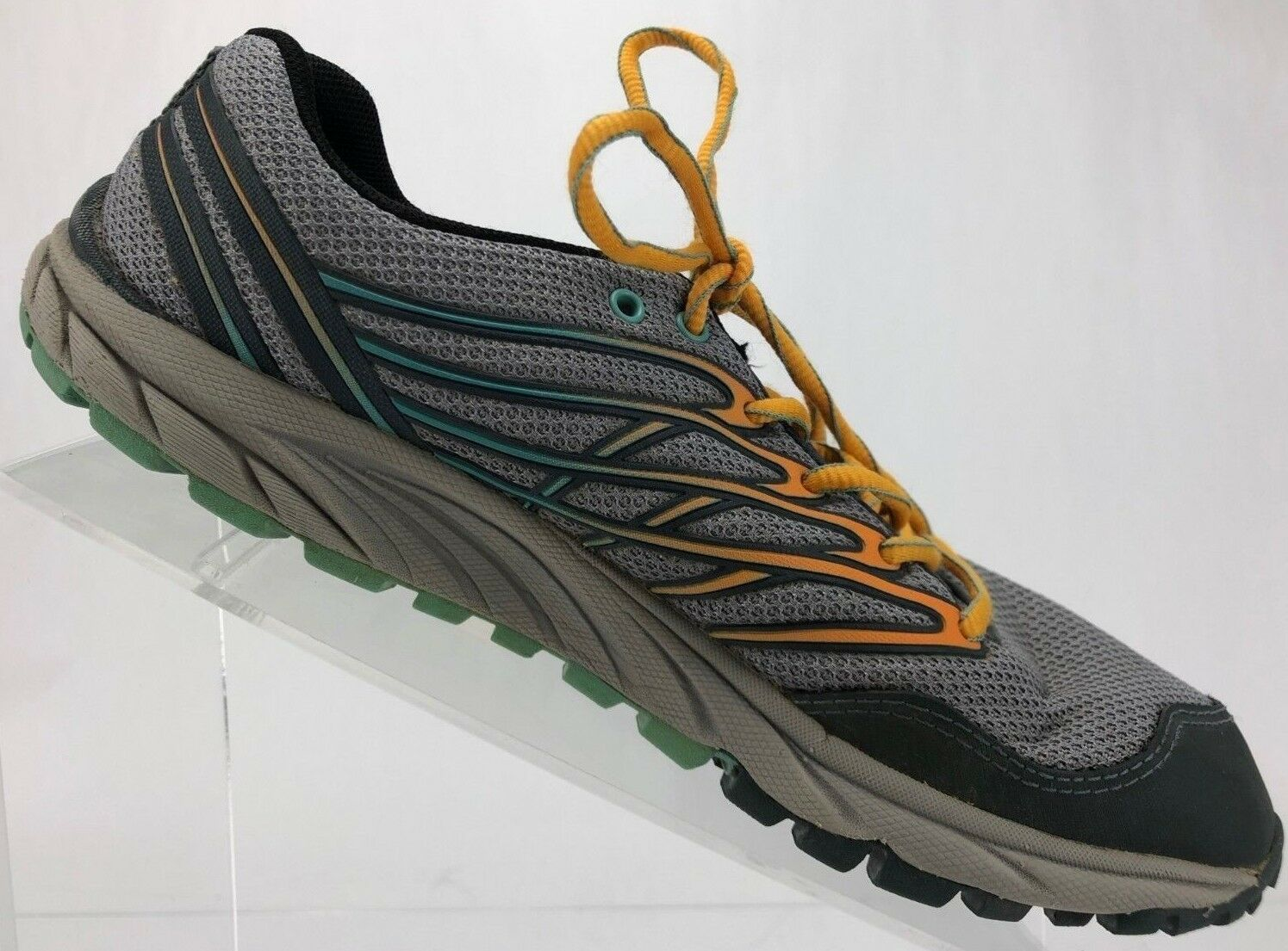 Merrell Bare Access- Trail Hiking Monument Flame Sneakers Womens 6.5 Grey orange