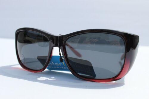 Womens Solar Shield Fit Over Sunglasses Polarized Cover Glasses Black Purple L
