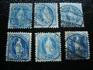 Switzerland-Stamp-Yvert-and-Tellier-N-73-x6-Obl-A7-Stamp-Switzerland