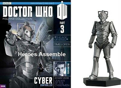 DOCTOR WHO FIGURINE COLLECTION #3 CYBER CONTROLLER EAGLEMOSS CYBERMAN MAGAZINE