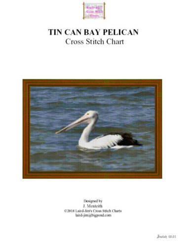 TIN CAN BAY PELICAN CROSS STITCH CHART