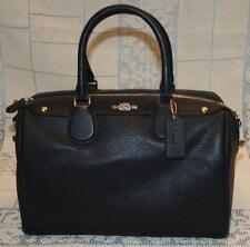 Coach Bennett Midnight Blue Pebble Leather Satchel Purse Handbag New NWT