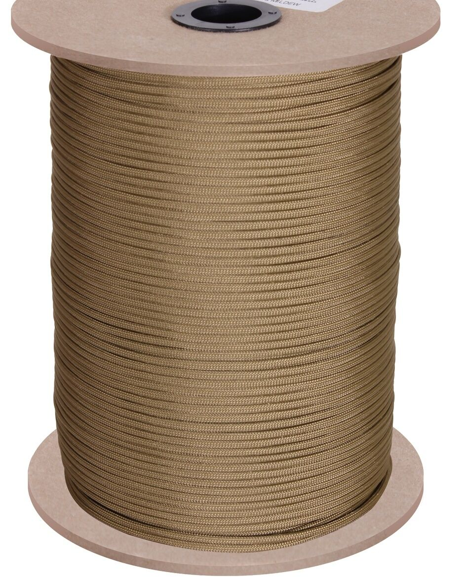 Us 304 Paracord 550lb nailon 1000 Foot 304 Us metros Army Military coyote made EE. UU. 03344f