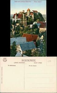 Hohnstein (Sächs. Schweiz) Panorama Blick auf Schloß und Stadt 1910
