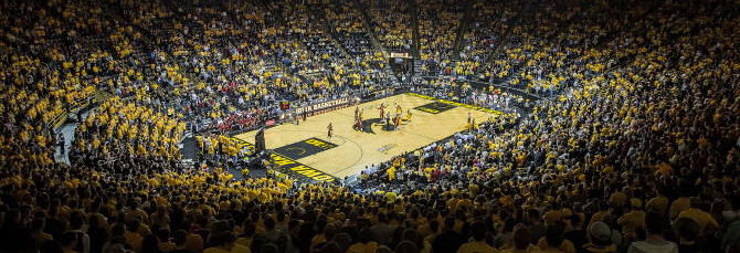Northwestern Wildcats at Iowa Hawkeyes Basketball
