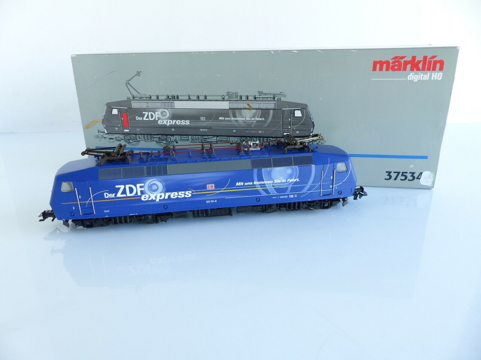 MARKLIN 37534 LOCOMOTIVE ELECTRIQUE BR 120 151-6 ZDF DE LA DB DIGITALE