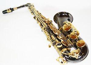 Amical Noir Vieux Saxophone Eb Avec Étui Et Accessoires