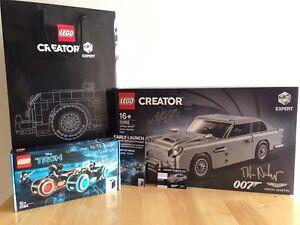 Lego 10262 Aston Martin Db5 Gratis 21314 Tron Legacy Leichtkraftrad Exklusive Signiert Ebay