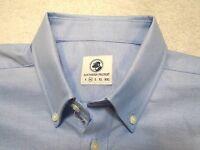 Southern 100% Cotton Proper Ox Blue Oxford Sport Shirt Medium $98