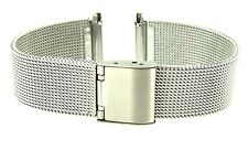 2 piece Mesh Design Stainless Steel  Metal Bracelet Watch Strap 16mm 18mm 20mm