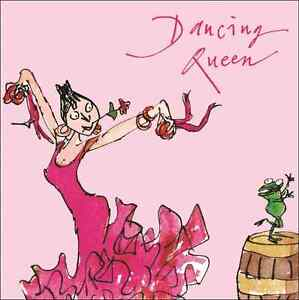 Swell Quentin Blake Dancing Queen Happy Birthday Greeting Card Square Personalised Birthday Cards Veneteletsinfo