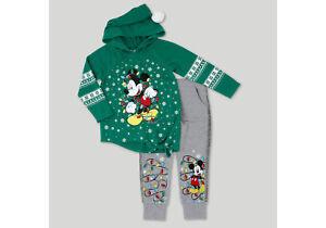 Toddler Girls Mickey Mouse Christmas Lights Sweatshirt Jogger