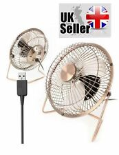PORTABLE COOLING DESK QUIET BRASS 6 inch FAN FOR COMPUTER LAPTOP PC....