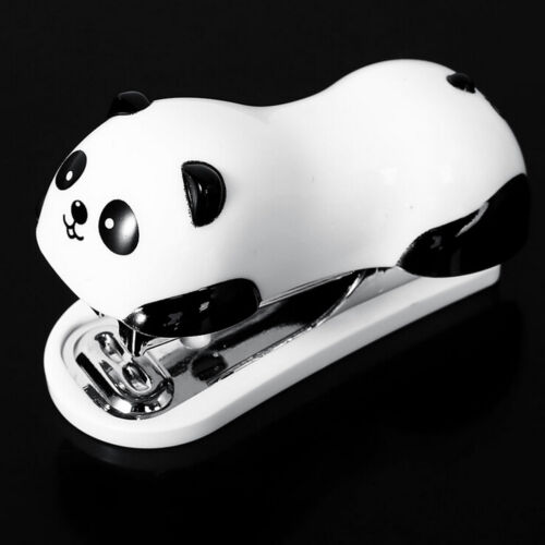 Cute Panda Office Student Small Mini School Home Stapler Staples Set Plastic*de