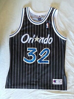 wholesale dealer 5c523 e374d Champion Shaq Shaquille O'Neal Authentic Orlando Magic jersey 44 L vintage  90s | eBay