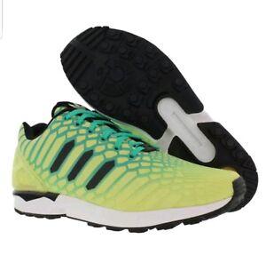 6229c64812546 New Adidas Originals ZX Flux AQ8212 Glow in The Dark Yellow Men s ...