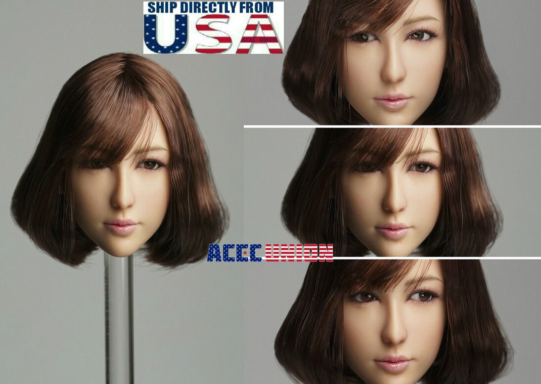 1 6 Asian Female MOVABLE EYES Head Sculpt A For 12  PHICEN Hot Toys Figure USA