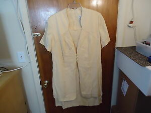 44497248611 Womens White Stag Plus Size 18   20 W Cream   Yellow Color Dress ...