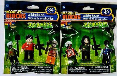 Make It Blocks Brand set of 9 Zombie mini figures New