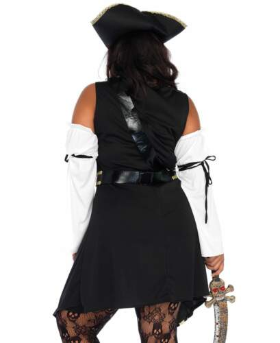 Leg Avenue Women/'s Black Sea Buccaneer Plus Size Costume Dress Pirate 1x-4x