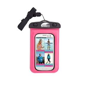 SwimCell-Standard-Phone-Case-Pink-100-Waterproof-Use-Whilst-in-Bag