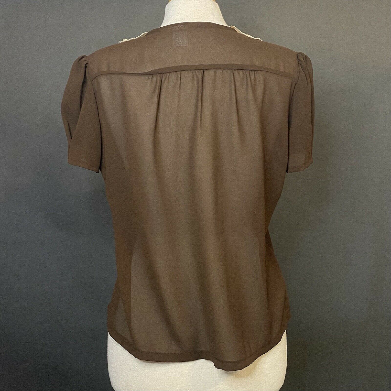 marie claire of california brown vintage button u… - image 2