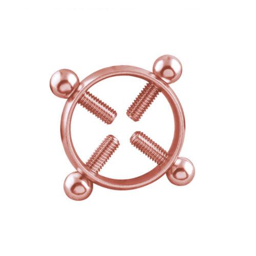 1Pcs rondes en acier inoxydable non Piercing Nipple Bague Bouclier Body Piercing Jewelry