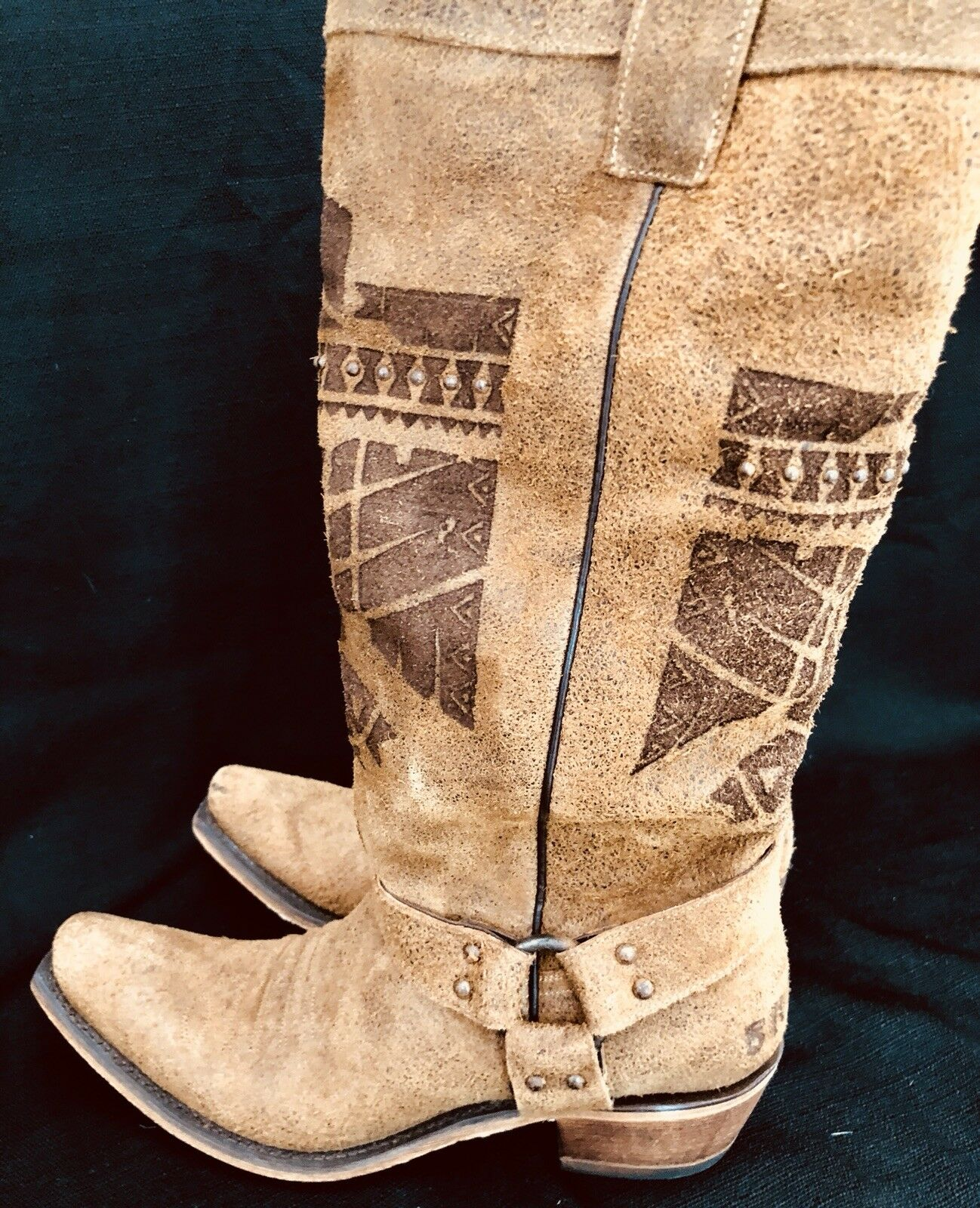 379 JUNK GYPSY SHE WHO IS BRAVE BRAVE IS COWGIRL WESTERN Stiefel 10M BY LANE HONEY braun 27f496