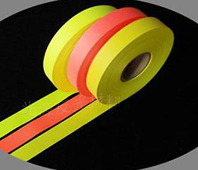 2cm Red Fluorescent Yellow Reflective Tape Sew On Fabric Trim Vest Cloth B27A JY