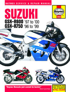 haynes manual 3553 suzuki gsxr600 97 00 gsxr750 96 99 rh ebay co uk suzuki gsxr 750 manual 2009 suzuki gsxr 750 manual download pdf
