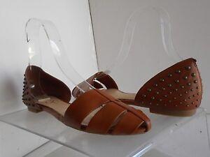 Jessica-Simpson-Rachele-Leather-Flats-sz-10-M