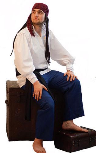 Pirata-Bucaniere-Larp-Da Uomo-NAVE MATE-Capitano Manigoldo Costume Tutte Le Taglie E PLUS